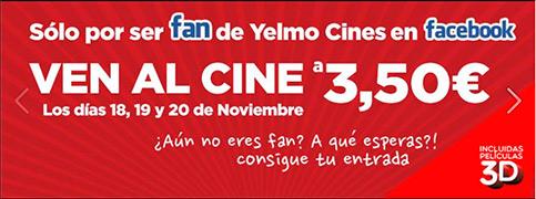 Promocion Yelmo Cines 3,50 noviembre-2013