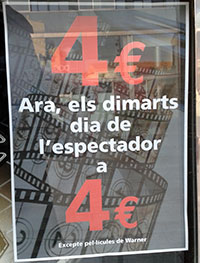 Día del espectador en Sabadell por 4€