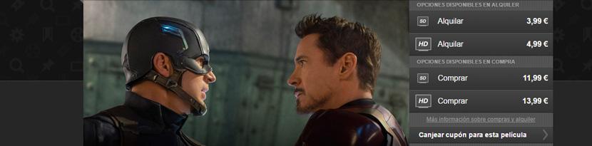 Cupón Wuaki Capitán América Civil War