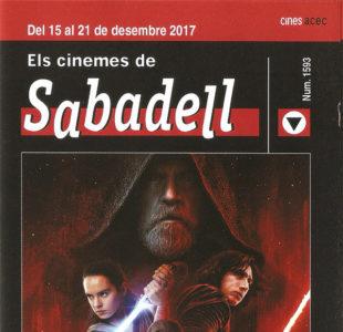 Cartelera Sabadell 1593 Star Wars Los últimos Jedi