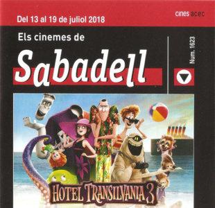 Cartelera Sabadell 1632 Hotel Transilvania y El Rascacielos