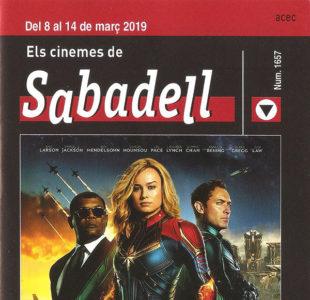 Cartelera Sabadell 1657 Capitana Marvel