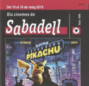 Cartelera Sabadell 1666. Detective Pikachu
