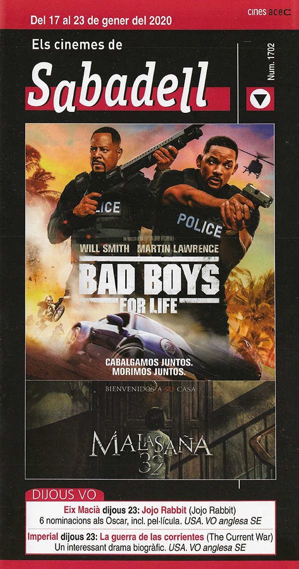 Cartelera Sabadell 1703 Bad Boys For Life
