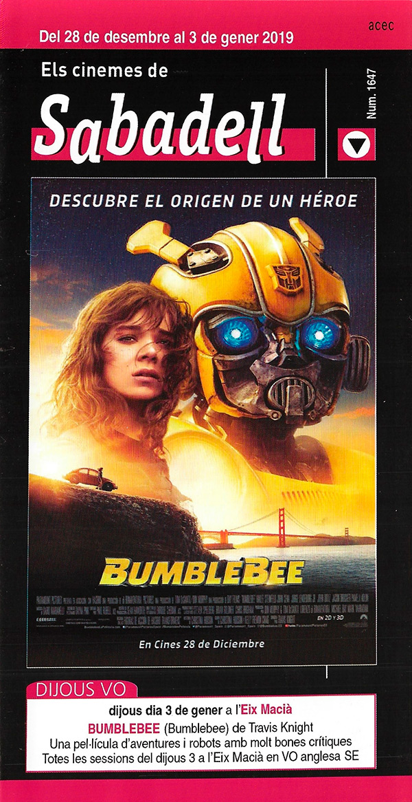 Cartelera Sabadell 1647 Bumblebee